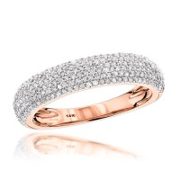 15 Ideas of Micro Pave Wedding Bands