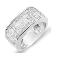 2018 Latest Mens White Gold Wedding Bands With Diamonds