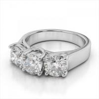 15 Best Ideas of 3 Stone Platinum Engagement Rings