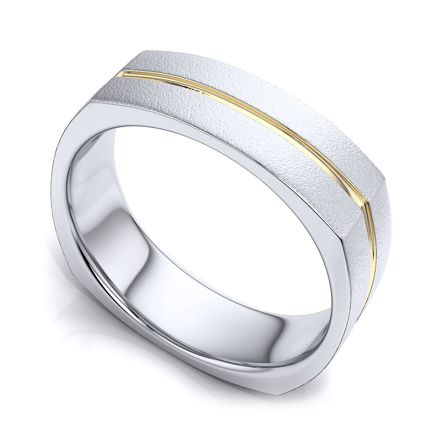 15 Best Ideas Of Two Tone Men Wedding Bands