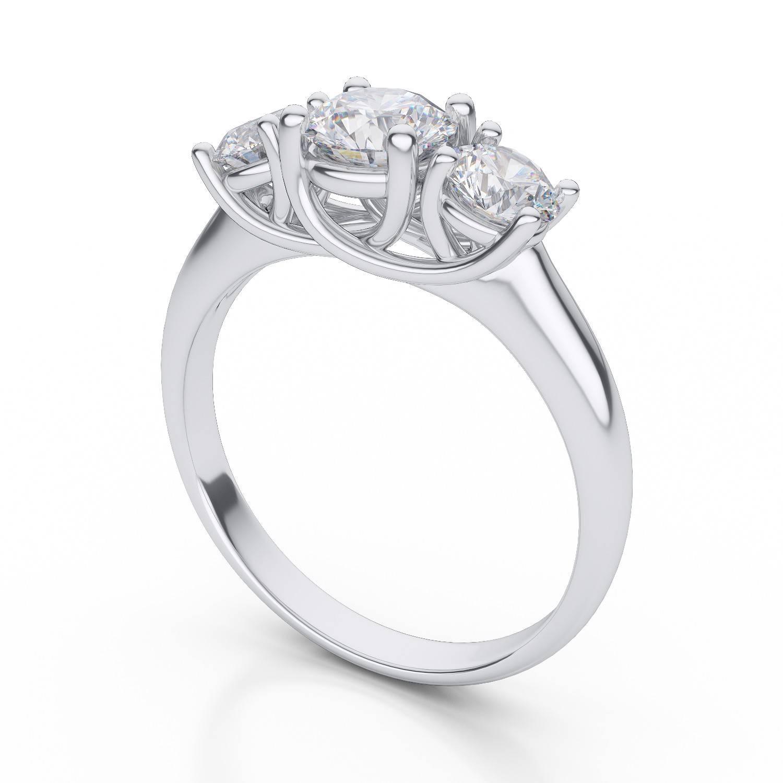 25 Best Of 3 Stone Anniversary Rings Settings