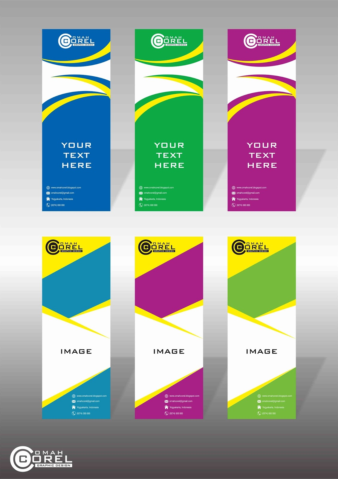 12 X banners background design template CDR file download