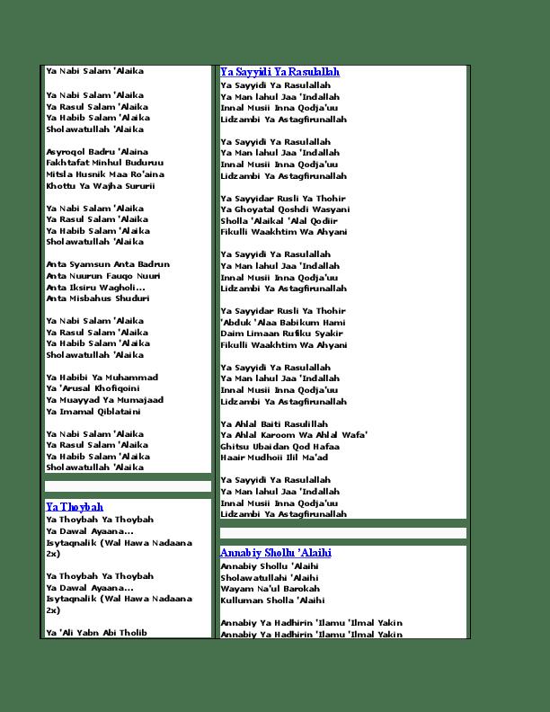 Lirik Habibi Ya Muhammad : lirik, habibi, muhammad, Lirik, Habibi, Muhammad, Fasrenglish