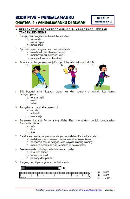 Soal Tematik Semester 2 Kelas 1,2,4,5 Tema 6,7,8,9 | Soal Tematik...
