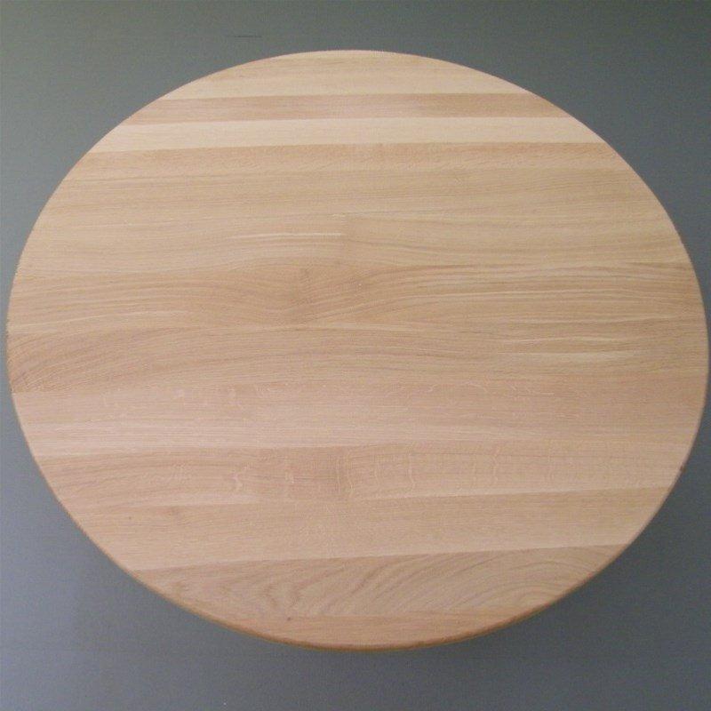 Runde Tischplatte aus 25mm Eichenholz  110cm kaufen