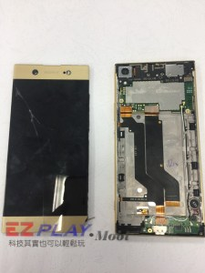 SONY XP螢幕自動分離 螢幕面板破裂不顯示!! SONY 手機維修