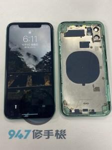 後背殼破裂的iphone 11客人的心也跟著破裂了!! IPHONE 手機維修