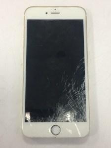 這不是牆壁!釘釘子不小心釘到i6+螢幕破裂了!IPHONE手機維修