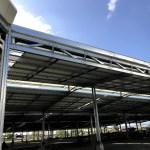 Construcción con estructura metálica en Panamá