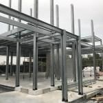 vivienda con estructura prefabricada