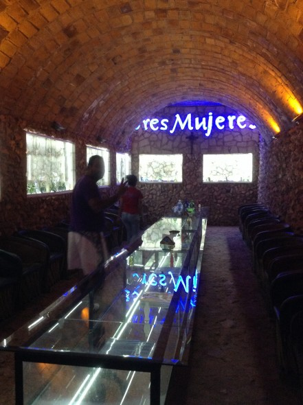 Tequila tasting room underground
