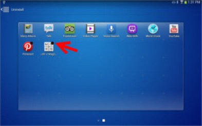 Steps to uninstall apps on Samsung Galaxy S3 Tab