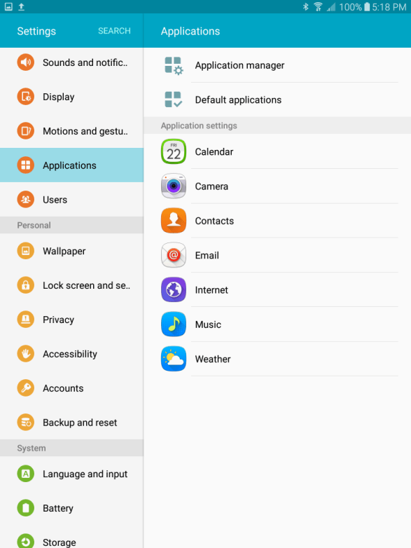 Android Applications Update for Samsung Galaxy Tab S3