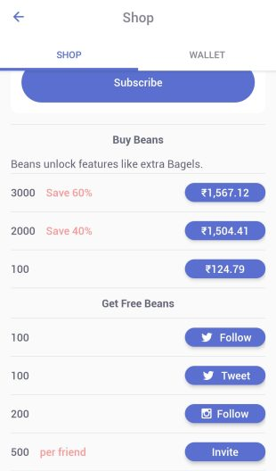 how to get free beans on coffee meets bagel?