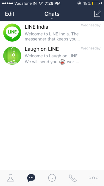 How to use LINE app