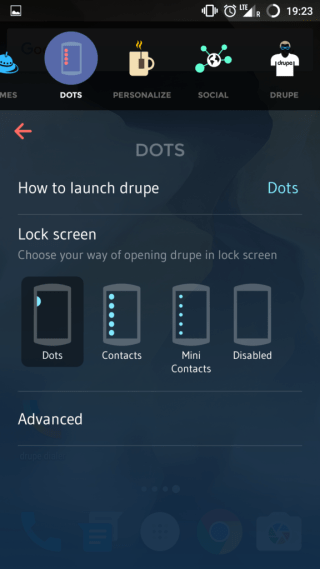 How to use Drupe app