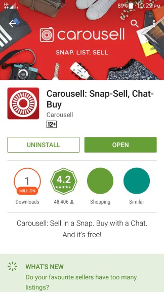 How to use Carousell App