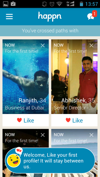 Today meaning active happn happn —