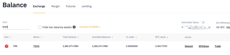 Binance Cryptocurrency Staking