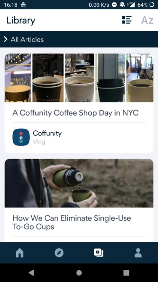 How to find different types of coffee on Coffunity?