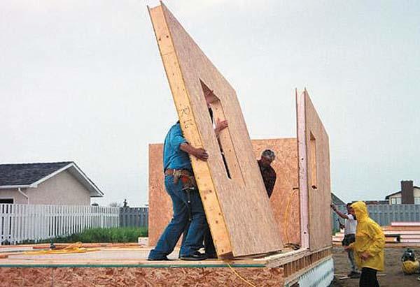 Konstruktion af vægge fra SIP-paneler