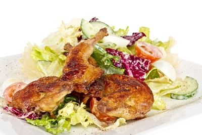 Baked Quail in Mushroom and White Wine Sauce