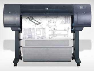 plotter στη διαδικασία εκτύπωσης αρχιτεκτονικών σχεδίων