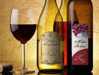αυτοκόλλητες ετικέτες για φιάλες κρασιού, για μπουκάλια κρασιού, για μικρά ή μπουκάλια με κρασί, στρογγυλές ή οβάλ αυτοκόλλητες ετικέτες για κρασί