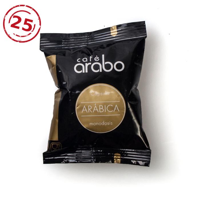 Estuche de 25 cápsulas de café arabo Arábica