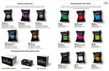 Catálogo de cápsulas café arabo