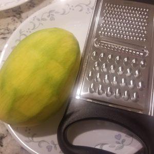 peel raw mango