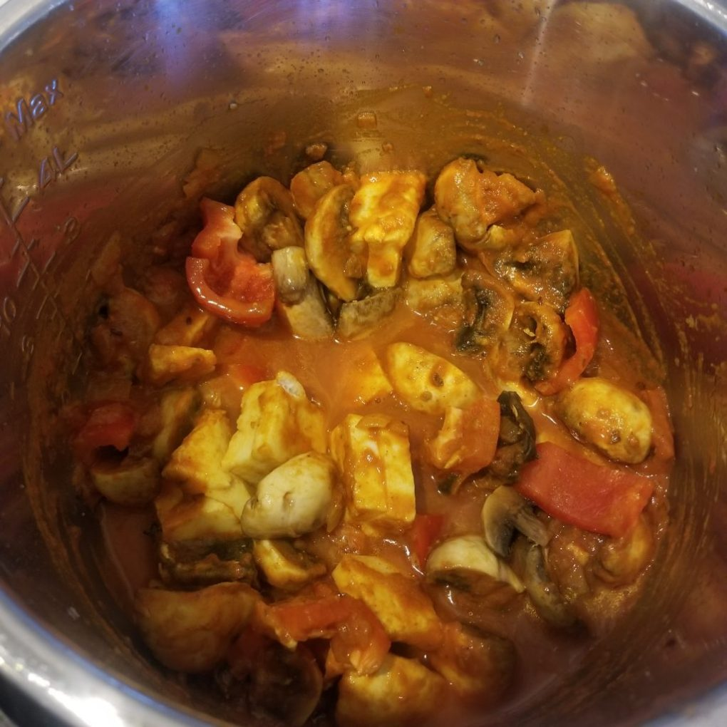 add mushroom paneer bell pepper