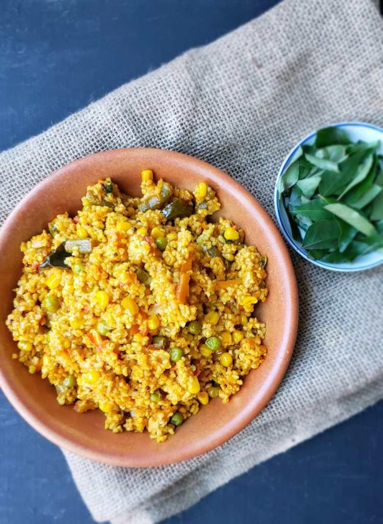 instant pot dalia upma or bulgur wheat