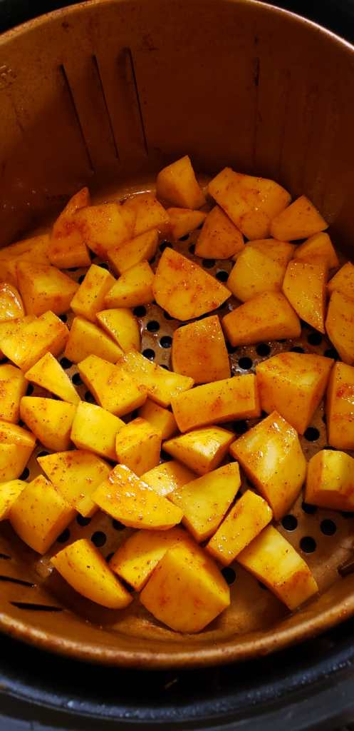 place potatoes in air fryer