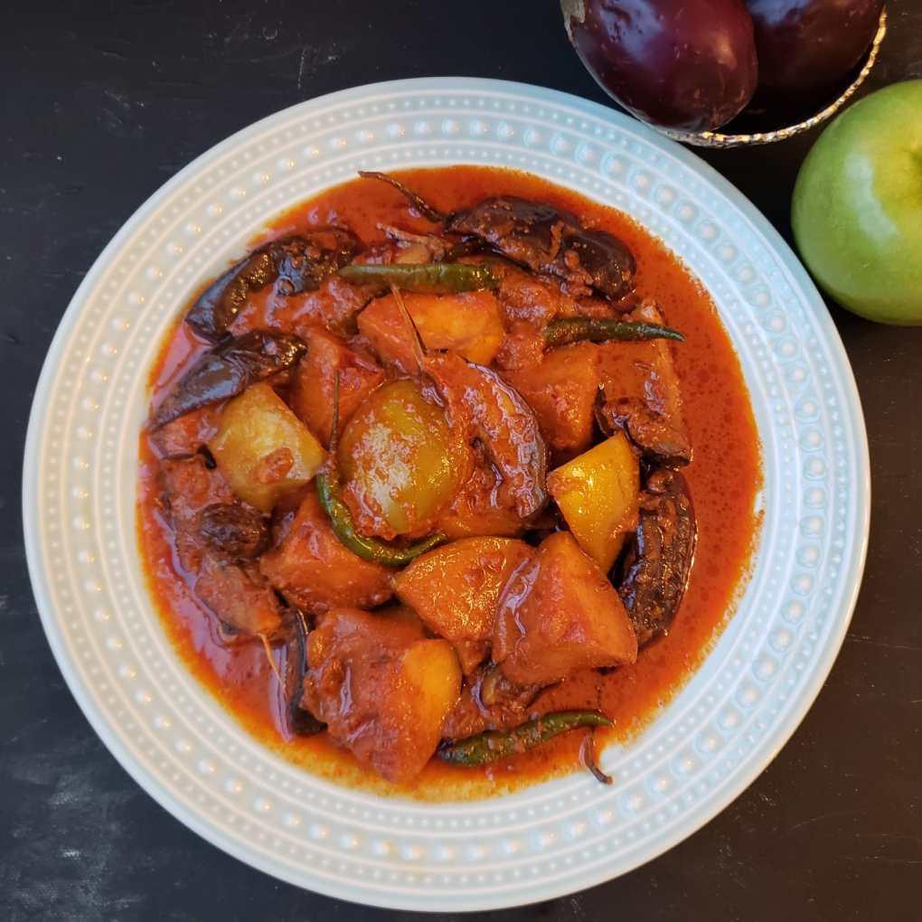 apple eggplant curry