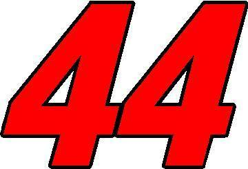 44 RACE NUMBER 2 COLOR SWITZERLAND FONT DECAL STICKER
