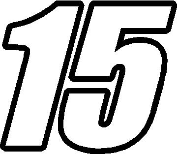 15 RACE NUMBER IMPACT FONT DECAL / STICKER