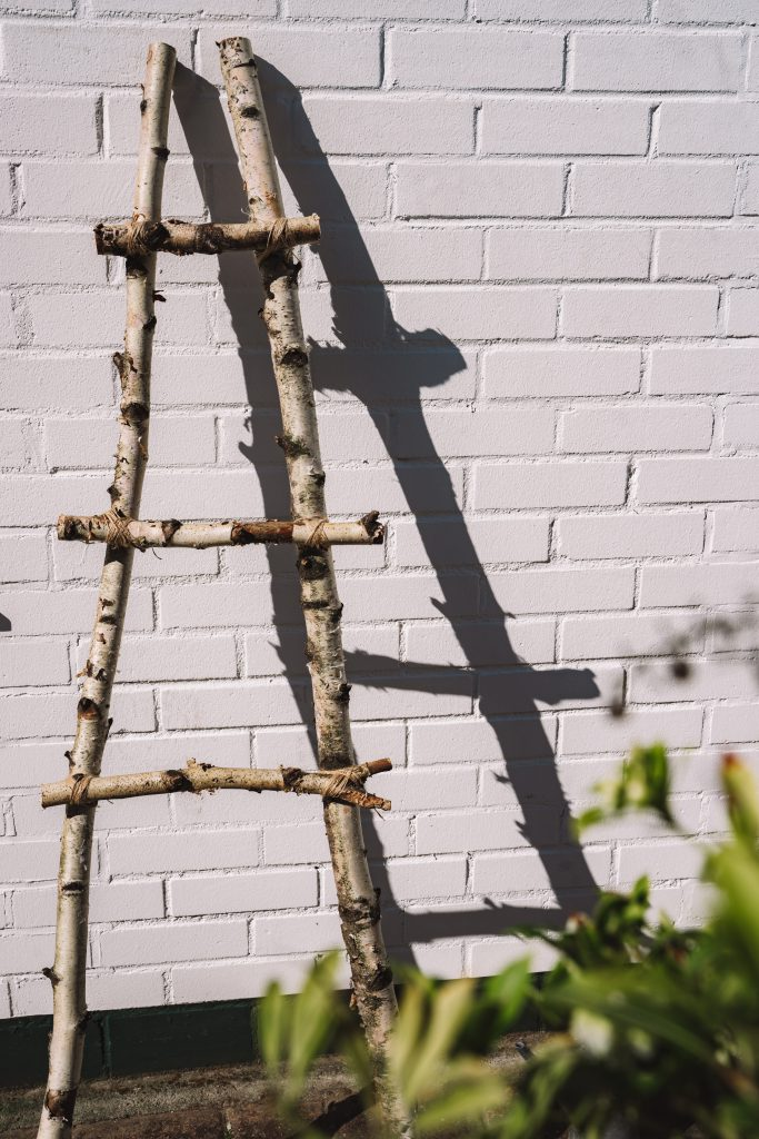 DIY, Dekoleiter, Deco Ladder, Do it yourself, Dekoleiter selber bauen, Hänge Vase, Kräutergarten