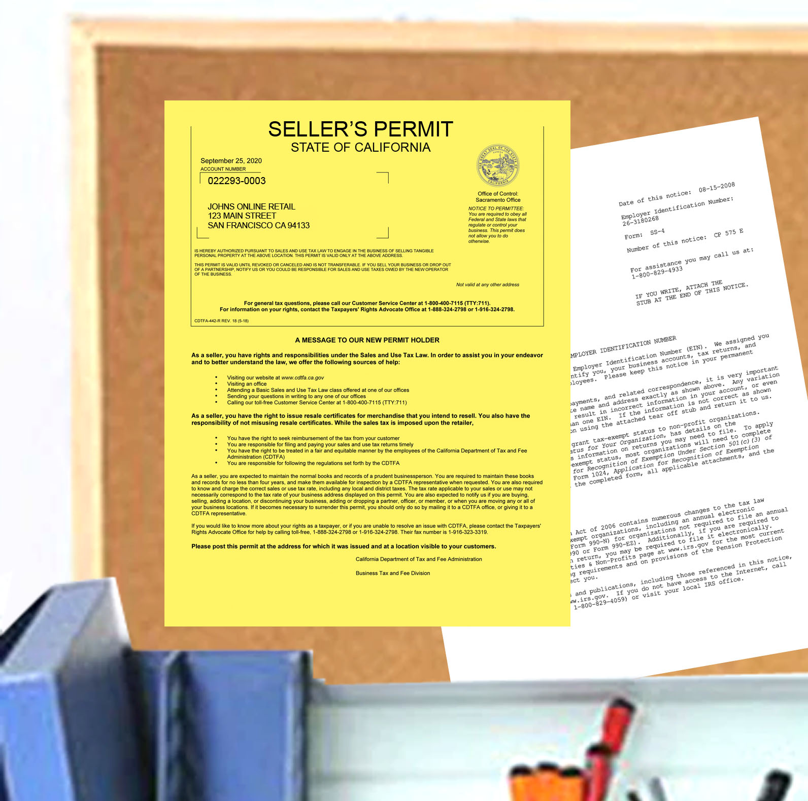 California Seller's Permit Application Form