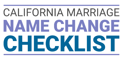 California Marriage Name Change Checklist Cover Photo