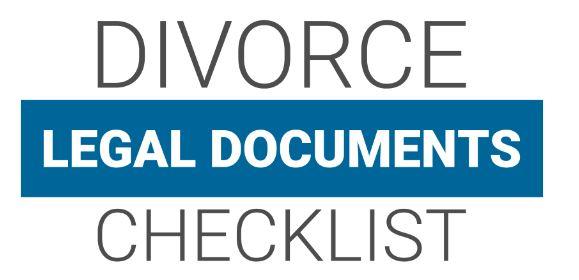 Divorce Legal Document Checklist Cover