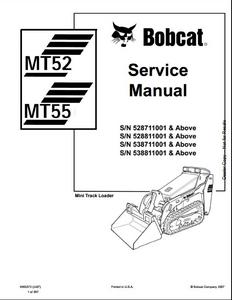 Bobcat 863 863 High Flow Skid Steer Loader Service Repair