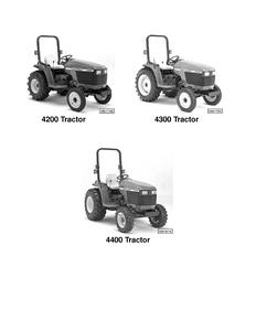 John Deere 4200 4300 and 4400 Compact Utility Tractors