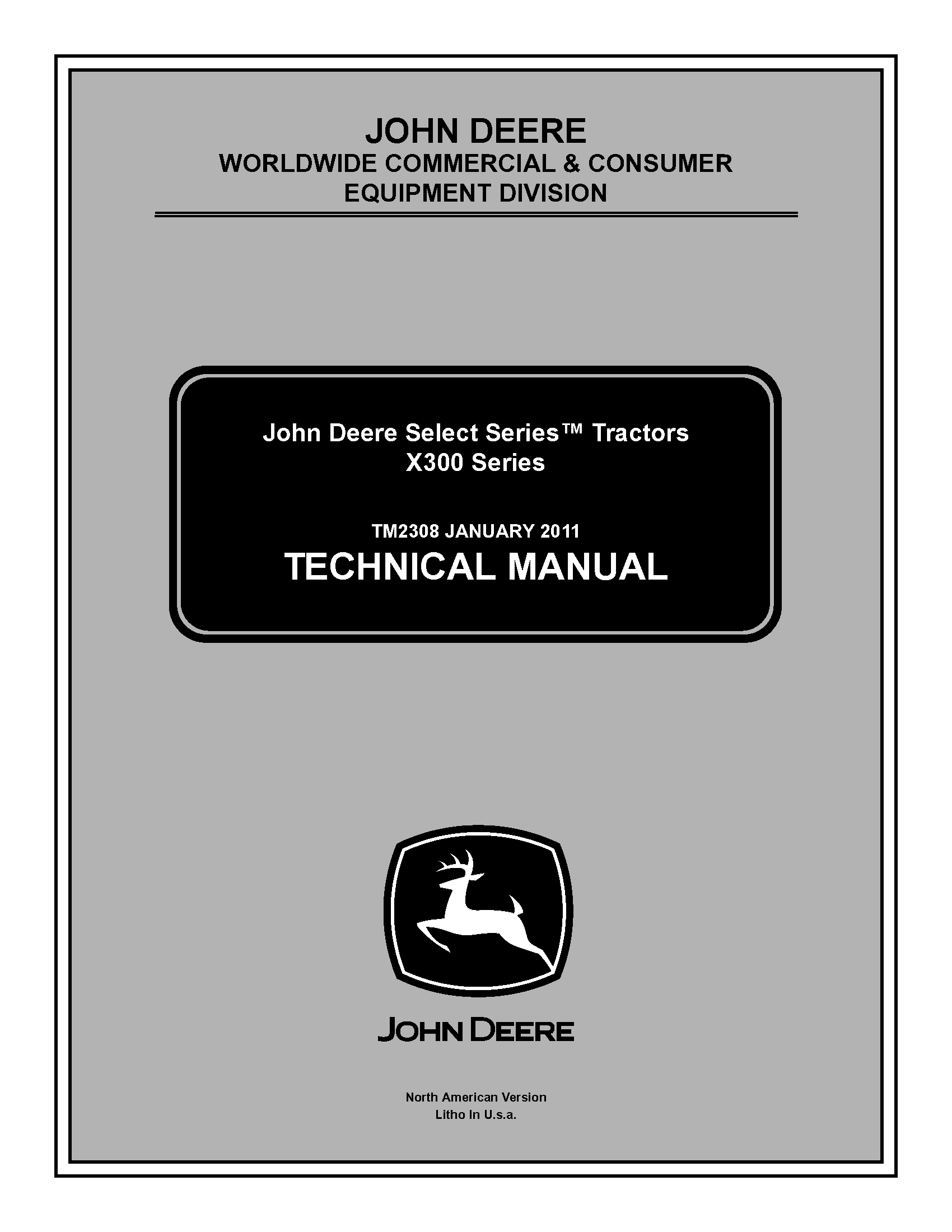 JOHN DEERE Tractors X300 X304 X320 X324 X340 X360 Repair
