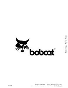 Bobcat X331 X331E X334 Hydraulic Excavator Service Repair