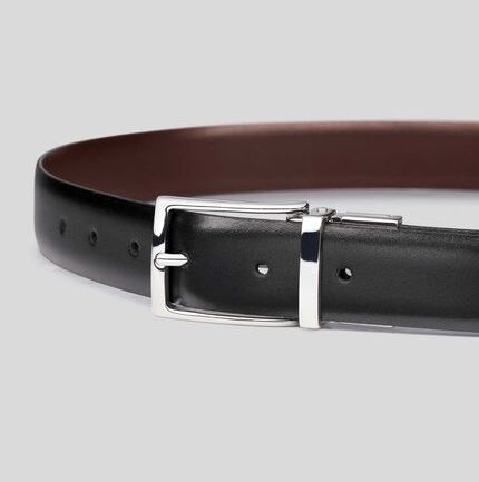 Black & Brown Reversible Made in England Leather Belt