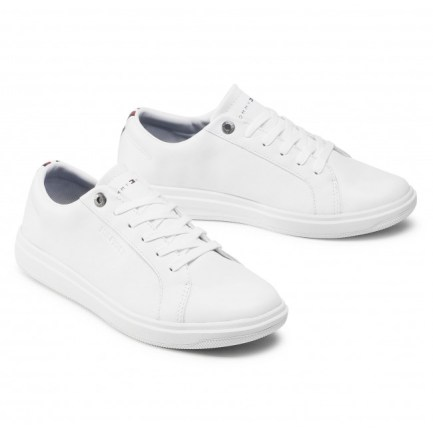 Leather Mix Cupsole Trainers