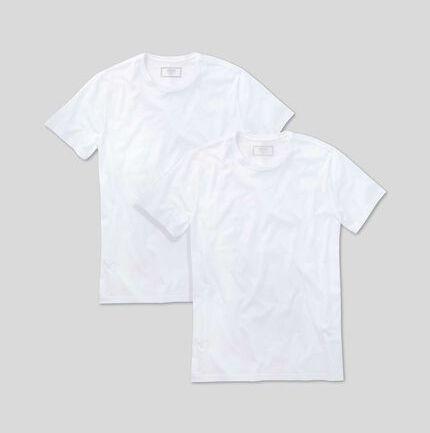 Crew Neck Cotton T-shirt - White