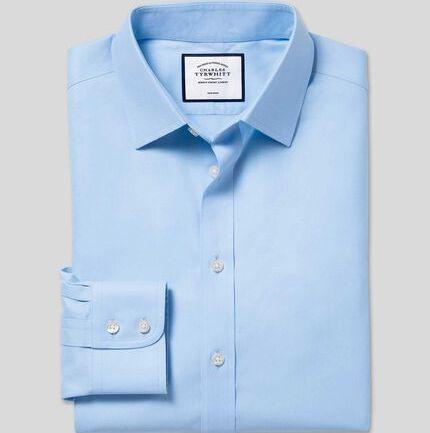 Non-Iron Twill Shirt - Sky