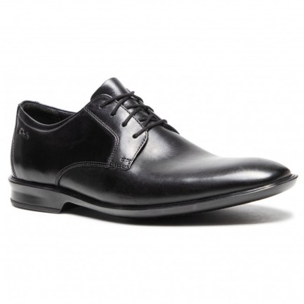 Bensley Lace Black Leather